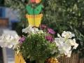 Blumengruss am Eingang