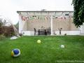 FeWo Lake House Fuball und Grillen im Garten